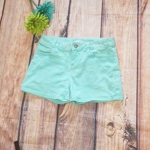 Old Navy  jean denim shorts  teal  misses sz